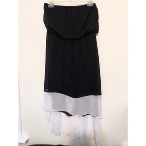 Dresses & Skirts - NEW Strapless Hi-Lo Black and White Dress (M)
